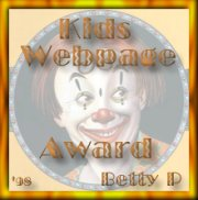 Betty's Kids Webpage Award