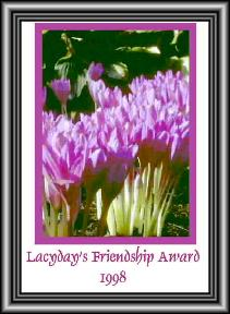 Lacyday's Friendsip award