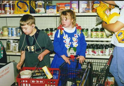 Grocery shopping with classmates at local Market