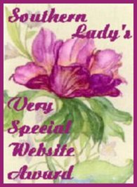 Southern Lady's Very Special Website Award